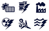Power and Energy Icons — Stok Vektör