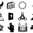 Christireligious icons — Vector de stock #25656133