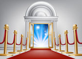 Red carpet entrance — Stock Vector