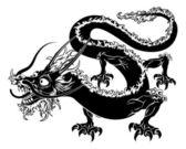 Stylised dragon illustration — Stock Vector
