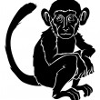 Stylised monkey illustration — Stock Vector #26026807
