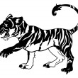 Stylised tiger illustration — Stock Vector