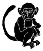 Stylised monkey illustration — Stock Vector