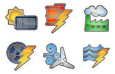 Power and Energy Icon Set — Cтоковый вектор