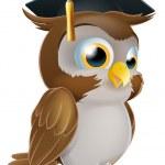 Graduate Owl — Stock Vector
