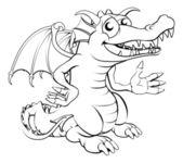счастливый мультяшный дракон — Cтоковый вектор