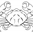 Stylised Crab illustration — Stock Vector