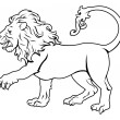 ������, ������: Stylised Lion illustration