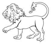 Stylised Lion illustration — Stock Vector