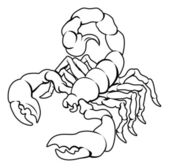 Stylised Scorpion illustration — Stock Vector