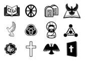 Conjunto de icono cristiano — Vector de stock