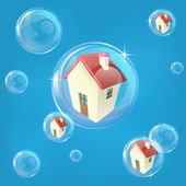 Housing bubble concept — Stock Vector