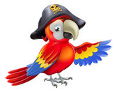 Cartoon pirate parrot — Stock Vector