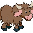 Stock Vector: Cartoon Yak animal character