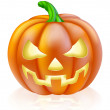 Carved Halloween Pumpkin — Stock Vector