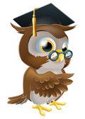 Professor owl — Stock Vector