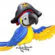 Pirate Parrot Illustration — Stock Vector #28670351