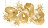 Ornamentos de oro navidad 2013 — Vector de stock