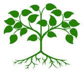 Stylised tree icon — Stock Vector