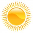 Stock Vector: Weather icon clipart sun illustration