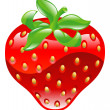 Illustration of shiny strawberry icon — Stock Vector