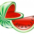 Stock Vector: Illustration of watermelon fruit icon clipart
