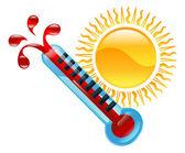 Obrázek klipart ikony počasí — Stock vektor