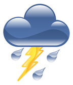 Weather icon clipart lightning thunder storm illustration — Stock Vector