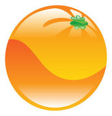 Illustration of orange fruit icon clipart — Stock Vector
