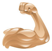 Strong muscle arm icon clipart illustration — Stock Vector