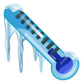 Weather icon clipart freezing cold thermometer illustration — Stock Vector