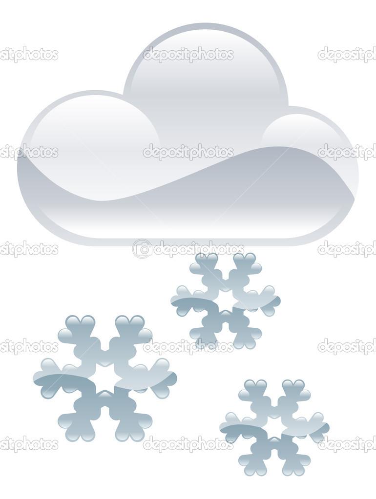 Wetter Clipart Schnee Flocken Abbildung — Stockvektor © Krisdog ...