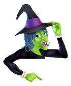 хэллоуин ведьмы указывая — Cтоковый вектор