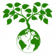 Earth tree graphic — Vettoriali Stock