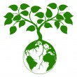 Earth tree graphic — 图库矢量图片