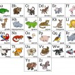 Постер, плакат: Cartoon Animal Alphabet Chart