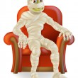 Stock Vector: Halloween Mummy in Chair
