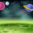 Outer Space Cartoon Background — Stock Vector