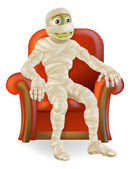 Halloween Mummy in Chair — Stock Vector