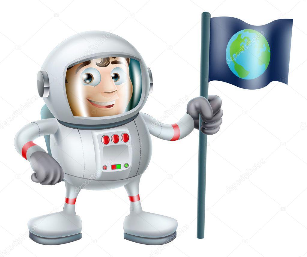 Astronaute de dessin anim image vectorielle krisdog 30663371 - Dessin d astronaute ...