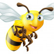 Vettoriale Stock : Cartoon Bee