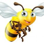 Cartoon bee — Stockvector