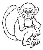 Stylised monkey illustration — Stock Vector