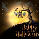 Orange Halloween Vampire Bat Background — Stock Vector #31847711