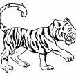 Stylised tiger illustration — Image vectorielle