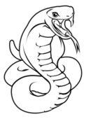 Stylised snake illustration — Stock Vector