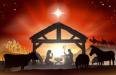 Christmas Nativity Scene — Vector de stock