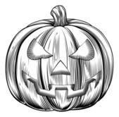 Vintage halloween pumpkin — Stock Vector