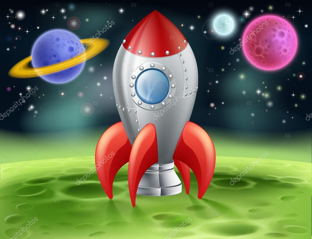 Fus e spatiale dessin anim sur la plan te extraterrestre - Dibujos infantiles del espacio ...