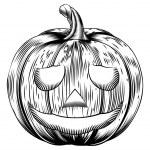 Vintage halloween pumpkin — Stock Vector